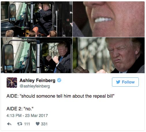 Trump Truck tweet