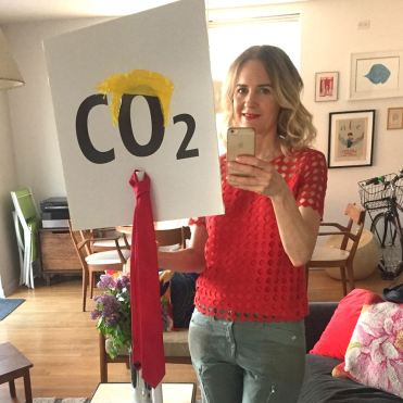 climate march sign c02