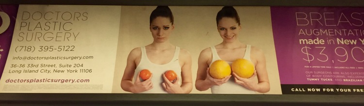 Subway boob ad