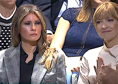 UNGA Melania unhappy