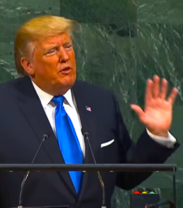 UNGA Trump orange w hand